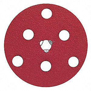 "7"" Coated Quick Change Disc, TS/TSM Turn-On/Off Type 2, 80, Coarse, Ceramic, 1 EA"