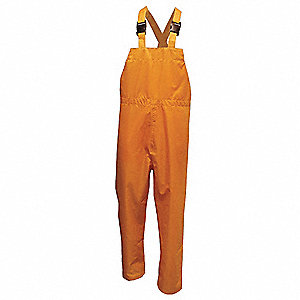 Rain Bib Pants,Yellow,2XL