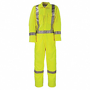 Tencate Tecasafe® Plus, Flame-Resistant Coverall, Size: M, Color Family: Yellows