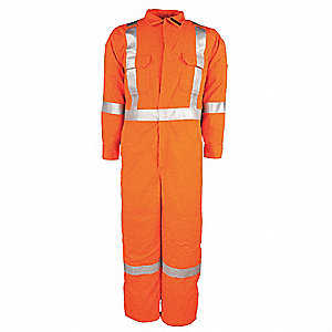 Tencate Tecasafe® Plus, Flame-Resistant Coverall, Size: 4XL, Color Family: Oranges
