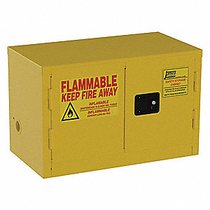 "6 gal. Flammable Cabinet, 22"" x 34"" x 18"", Self-Closing Door Type"