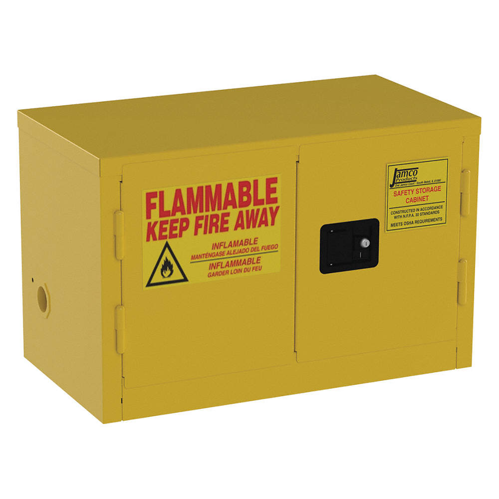 JAMCO BU11YP Flammable Safety Cabinet,6 gal.,Yellow | eBay