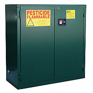 "24 gal. Pesticide Cabinet, 65"" x 23"" x 18"", Self-Closing Door Type"