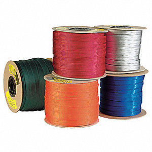 Webbing Spools,1 In.,Nylon,Black,300 ft.