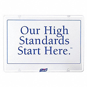 Our High Standards Start Here Sign