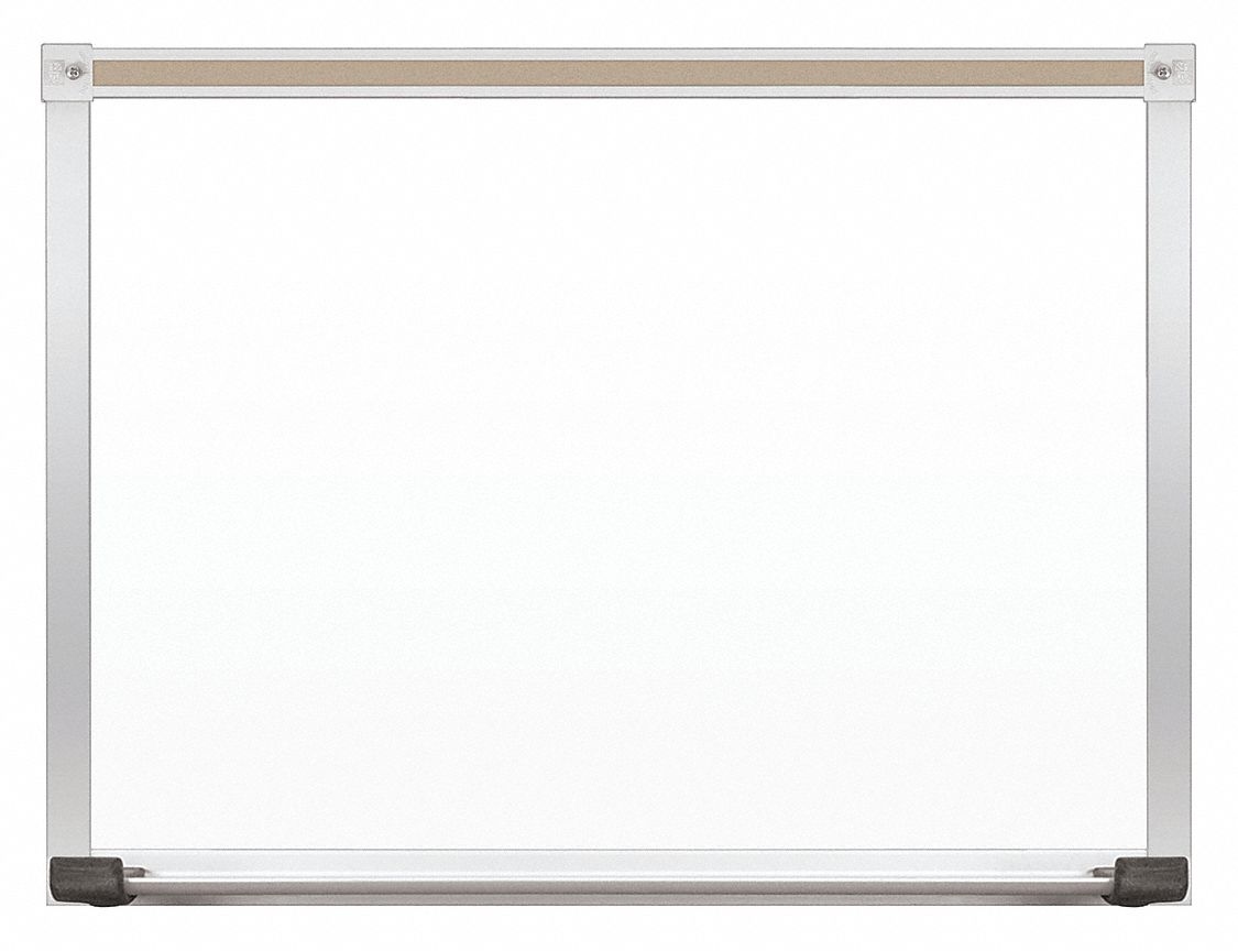 Gloss-Finish Steel Dry Erase Board, Wall Mounted, 18 inH x 24 inW, White