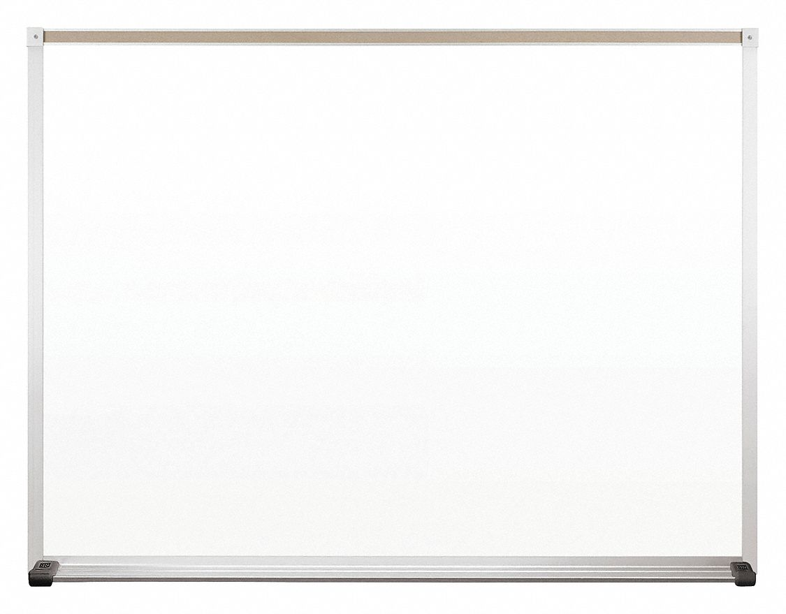 Gloss-Finish Steel Dry Erase Board, Wall Mounted, 36 inH x 48 inW, White