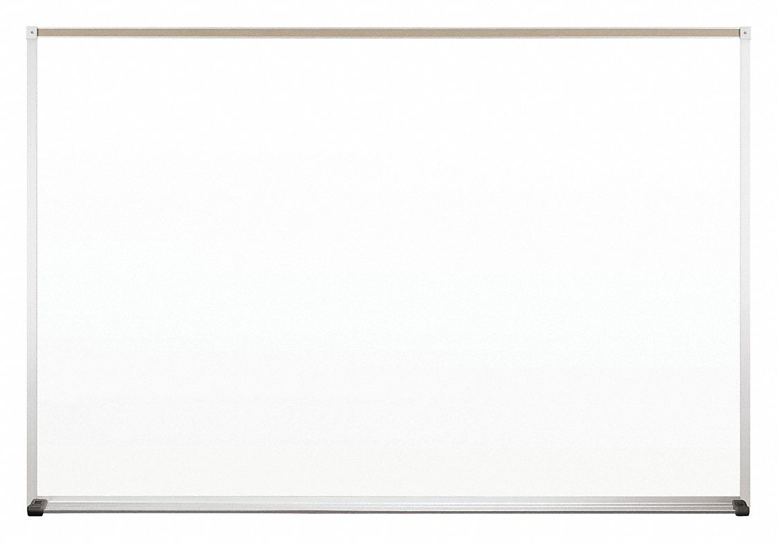 Gloss-Finish Steel Dry Erase Board, Wall Mounted, 48 inH x 72 inW, White