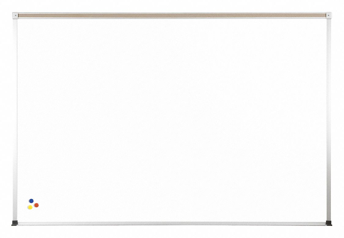 Gloss-Finish Melamine Dry Erase Board, Wall Mounted, 24 inH x 36 inW, White