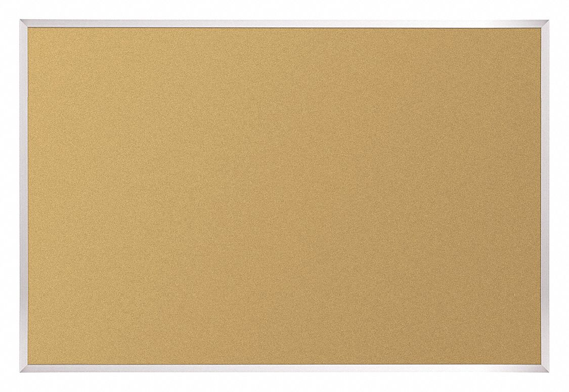Push-Pin Bulletin Board, Cork, 18 inH x 24 inW, Natural