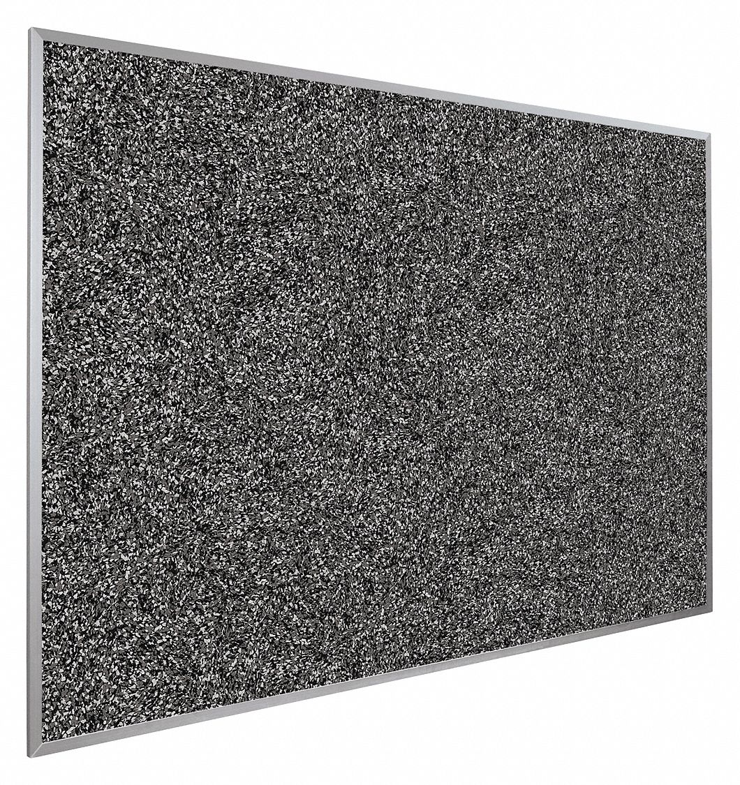 Push-Pin Bulletin Board, Recycled Rubber, 18 inH x 24 inW, Black
