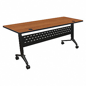 "Adjustable Table, 24""Dx72""W, Amber Cherry"