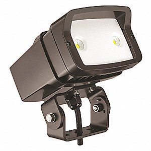 LED Floodlight,23W,2071 lm,Yoke Mnt