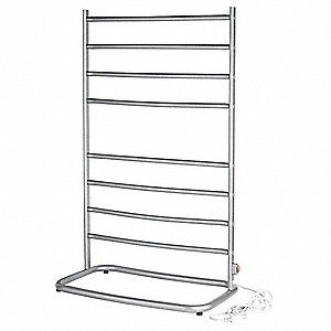 Satin Nickel Towel Warmer, Free Standing, 120 Voltage, 105 Watts