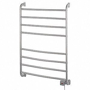 "6""D x 24""W x 40""H Satin Nickel 8 Bar Towel Warmer"