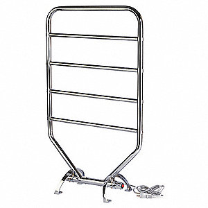 "7""D x 21""W x 34""H Chrome 5 Bar Towel Warmer"