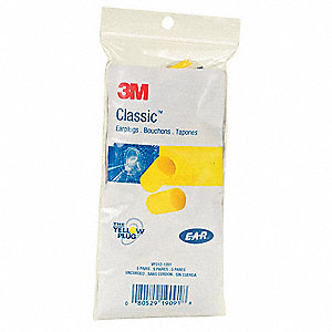 Ear Plugs,Disposable,29dB,Yellow,PK5