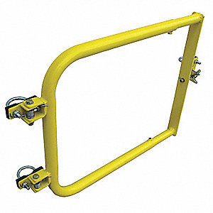 Guardrail Gate,38 in. L,Yellow