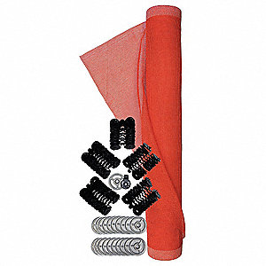 Vertical Netting System Kit, Polyethylene, 5-1/2 ft. Width, 100 ft. Length