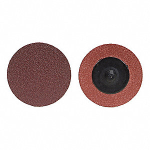 "3"" Coated Quick Change Disc, TR Roll-On/Off Type 3, 36, Extra Coarse, Aluminum Oxide, 50 PK"