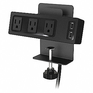 Surge Outlet Strip Includes Clamp Mount