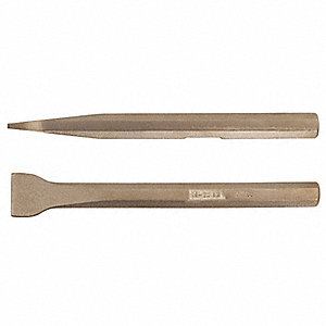 "Caulk Removal Chisel,10-1/4""L,15/32"" Hex"