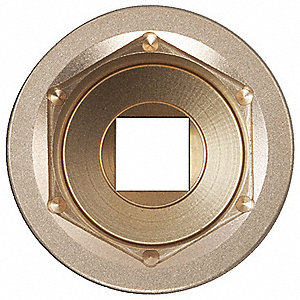 "25mm High Strength Nickel Aluminum Bronze Socket with 3/4"" Drive Size and Natural Finish"