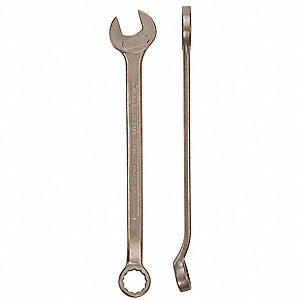 "1-9/16"", Combination Wrench, SAE, Natural Finish, Number of Points: 12"
