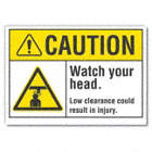 Caution: Watch Your Head. Low Clearance Could Result In Injury. Signs