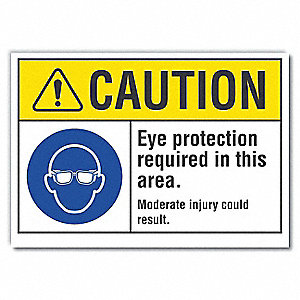 "Personal Protection, Vinyl, 5"" x 7"", Adhesive Surface"