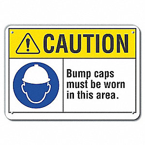 Caution Sign,Recycled Aluminum,7 in. H