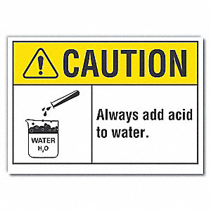 "Chemical, Gas or Hazardous Materials, Vinyl, 10"" x 14"", Adhesive Surface"
