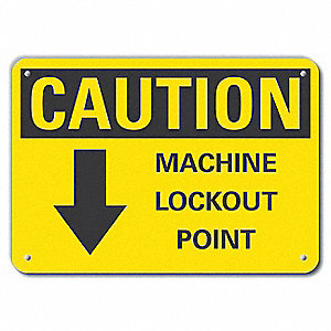 "Lockout Tagout, Recycled Aluminum, 7"" x 10"", With Mounting Holes"