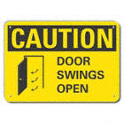 Caution: Door Swings Open Signs