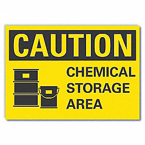 "Chemical, Gas or Hazardous Materials, Vinyl, 5"" x 7"", Adhesive Surface"