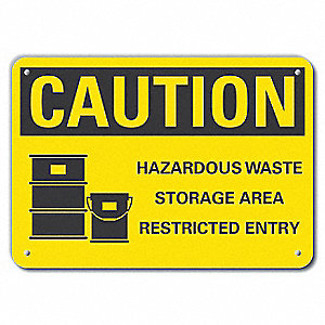 "Chemical, Gas or Hazardous Materials, Recycled Aluminum, 7"" x 10"", With Mounting Holes"