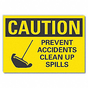 "Spill Control, Vinyl, 5"" x 7"", Adhesive Surface"