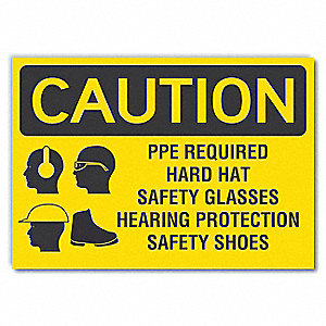 Sign,Self-Adhesive Vinyl,3-1/2 in. H