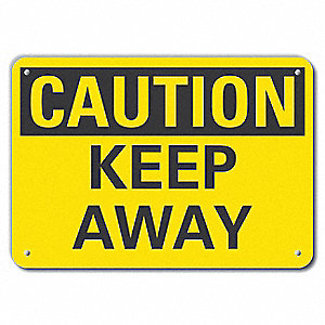 "Keep Clear, Recycled Aluminum, 10"" x 14"", With Mounting Holes"