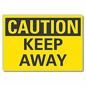 "Keep Clear, Vinyl, 5"" x 7"", Adhesive Surface"