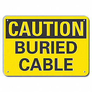 "Electrical Hazard, Caution, Recycled Plastic, 7"" x 10"", With Mounting Holes, Not Retroreflective"