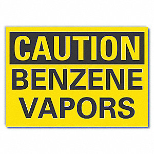 Caution Sign,Self-Adhesive Vinyl,7 in. H
