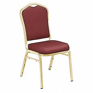 Stack Chair,Pleasant Burgundy,Gold Frame