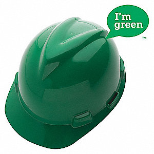 HARD HAT V-GARD GREEN CAP GREEN