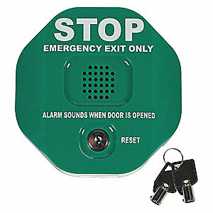 Exit Door Alarm, 105dB, 9VDC Power Source