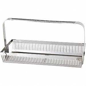 185 L x 88 W x 78 Dmm Stainless Steel Slide Rack and Handle, Silver; PK3
