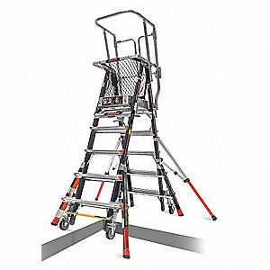 Little Giant Safety Cage Platform Ladder 5 9 Ft Iaa