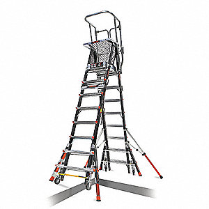 Little Giant Safety Cage Platform Ladder 8 14 Ft Iaa