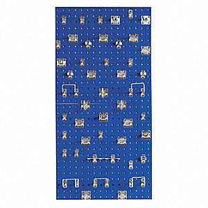 "Steel Pegboard Panel Kit with 240 lb. Load Capacity, 24""H x 24""W, Blue, 1 EA"