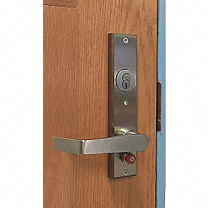 Door Lever Lockset, Spell M Escutcheon, Mechanical, Not Keyed Key Type, Mortise, Commercial